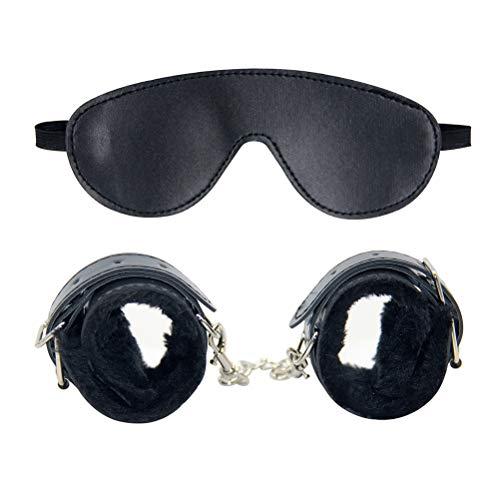 BESTOYARD 大人の目隠し手錠セットロールプレイアクセサリー大人カップル拘束ボンデージマッサージ