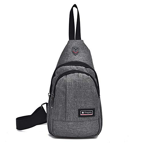 Gray School Anti Summer JERFER Chest Bag Trip Short Theft Bag Messengers wqUqI7v