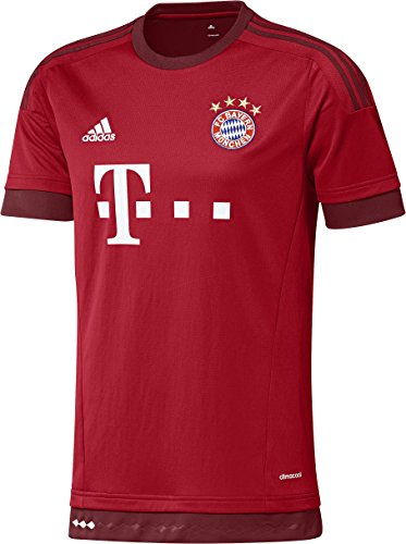 adidas Boys Soccer FC Bayern Home Jersey (Red/Maroon)