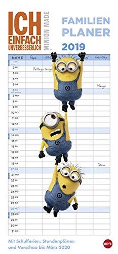 Minions Familienplaner - Kalender 2019