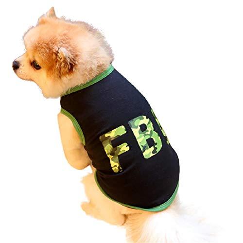 Pet Dog Cat Clothes Tee Shirt Summer Vest Cute Sweatshirt Puppy Apparels Clothes Green
