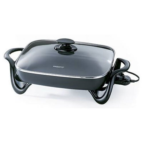 Presto 06852 16-Inch Electric Skillet with Glass Cover (Large Frying Pan Lid compare prices)