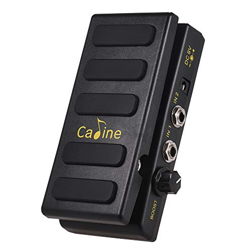 Channel Overdrive Pedal - Muslady Guitar Volume Pedal Dual Channels Caline CP-31P with Boost Function True Bypass Full Metal Shell