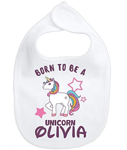 (Bib My Little Unicorn Pony Infant Baby Girl Personalized Custom Name Micro fiber)