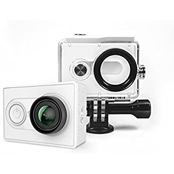 yi action camera with waterproof case white. Black Bedroom Furniture Sets. Home Design Ideas