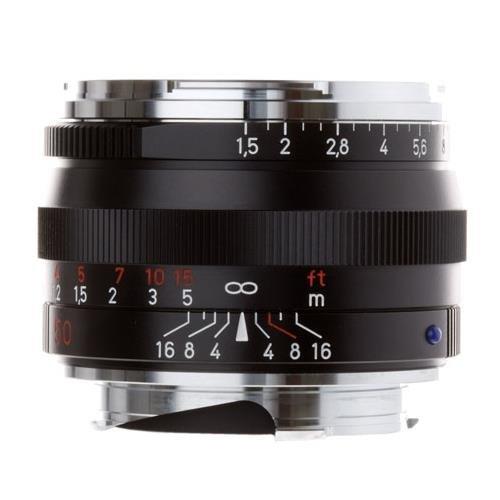Zeiss Normal 50mm f/1.5 C Sonnar T ZM Manual Focus Lens for Zeiss Ikon and Leica M Mount Rangefinder Cameras - Black