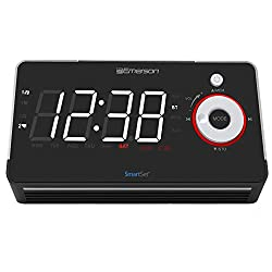 Emerson Smartset Alarm Clock Radio with Bluetooth Speaker, USB & Type C Charger & Nightlight ER100113