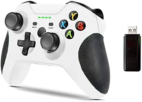 Xbox One Game Controller for Microsoft Xbox Wireless Controller Enhanced Game Controller One S/One X/Xbox One/One Elite/PC Windows 10(White)