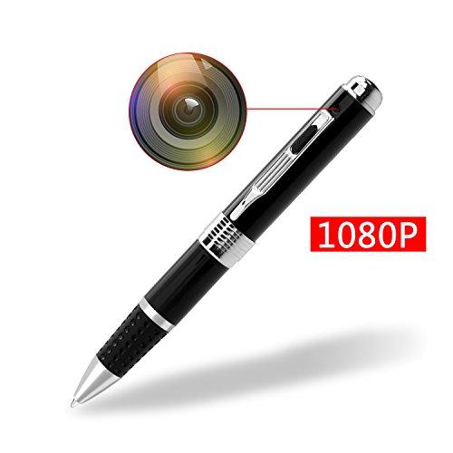 Spy Camera Pen HD 1080P Portable Hidden Camera Spy Pen Surveillance Camera with 16GB Memory Micro Card SZBOKE Mini Camcorder
