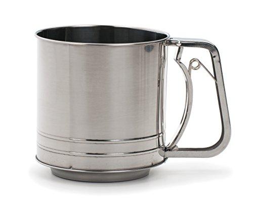 RSVP International Endurance Stainless Steel 5-Cup Triple Mesh Flour Sifter (SIFT-5TM)