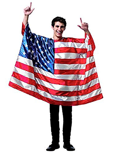 DomeStar USA American Flag Cape Cloak Costume