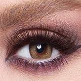 Bella Cosmetic Contact Lenses Glow, Color - Radiant Hazelnut, Power - Plano