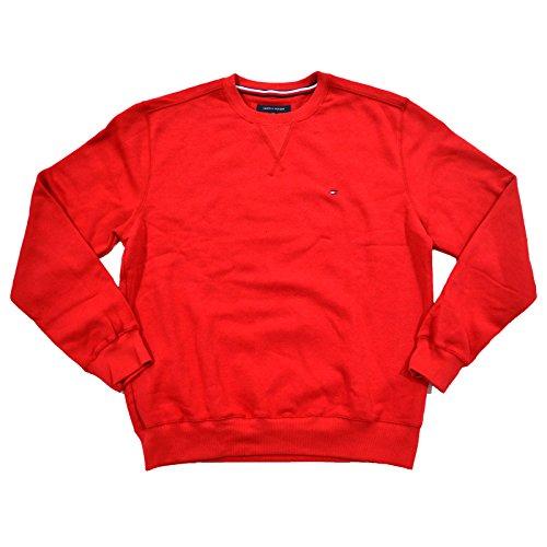 Tommy Hilfiger Mens Crewneck (Tommy Hilfiger Mens Crew Neck Sweatshirt (M, Red))
