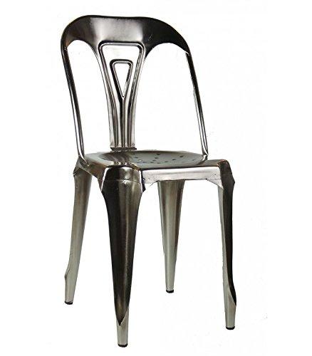 Wadiga Sedia Stile Industriale in Metallo Vintage Ferro ...