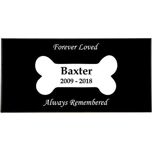 Memorial Gallery Personalized Pet Granite Marker with Custom Engraving (Dog Bone)