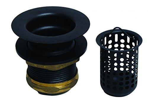 Westbrass Junior Basket Style Bar Strainer, Matte Black, D218-62 (Bar Assembly Seal)