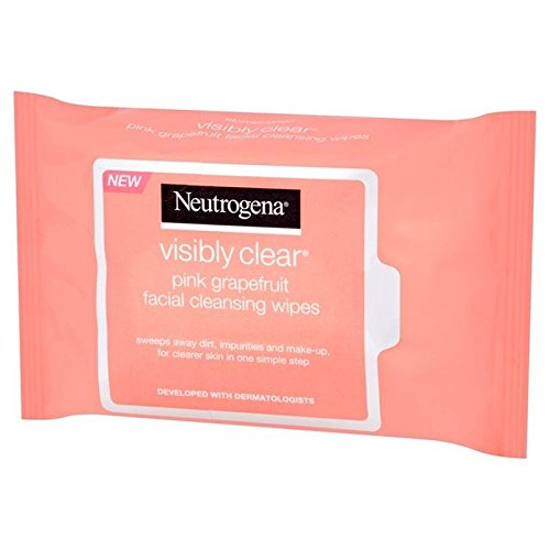 Neutrogena Visibly Clear Pink Grapefruit Wipes 25 per pack (PACK OF 2)