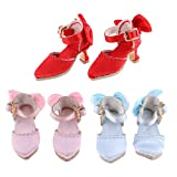SM SunniMix Adorable 3 Pairs Pointed Toe Shoes High Heels for 1/6 Blythe Licca Azone Doll Party Outfit