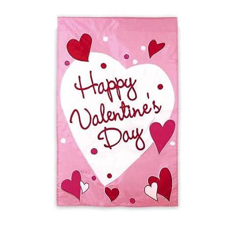Amazon.com : Happy Valentine\'s Day Garden Flag 12.5\