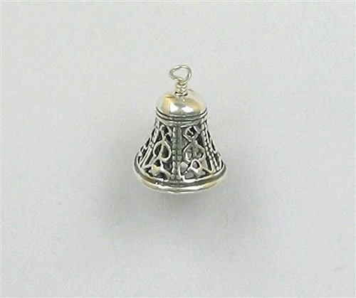 - Sterling Silver 3-D Movable Filigree Bell Charm Jewelry Making Supply, Pendant, Charms, Bracelet, DIY Crafting by Wholesale Charms