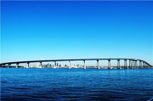 (CORONADO BRIDGE GLOSSY POSTER PICTURE PHOTO san diego bay concrete steel usa)