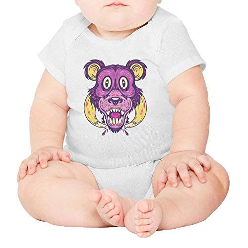 LUCKYBABY Funny Monkey Art White Baby Onesies Clothing Short Sleeve Cotton Gifts