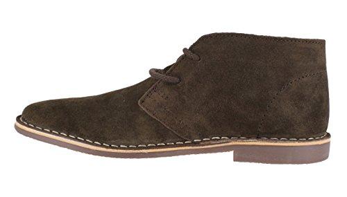 Red Tape Gobi–botines de cuero marrón