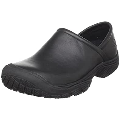 KEEN Utility Men's PTC Slip On Work Shoe,Black,7 M US