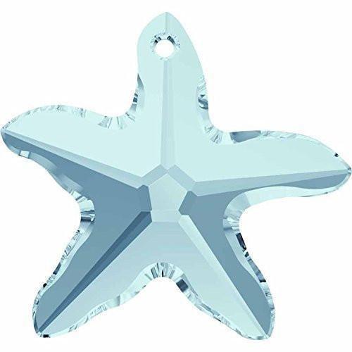 (6721 Swarovski Pendant Starfish | Aquamarine | 20mm - Pack of 1 | Small & Wholesale Packs)
