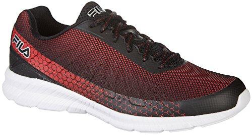 Fila Mens Memory decimal Running Shoes Black/ Fila Red/ White IAHNmxDs