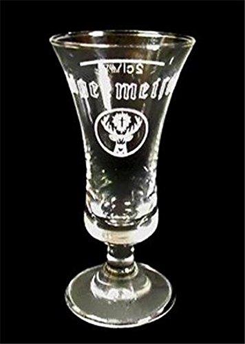 """Jagermeister Stemmed Fluted Shot Glass 4"""" Tall"""