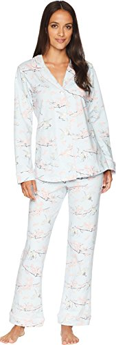 Sleeve Classic Knit Two-Piece Pajama Set Lucky Cranes X-Large (Lucky Crane)