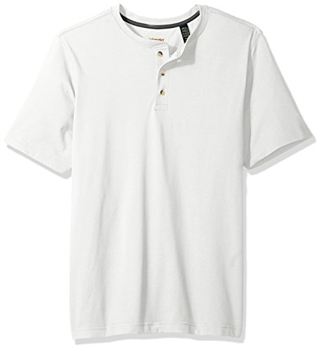 (Wrangler Authentics Men's Big & Tall Short Sleeve Henley Tee, Bright White, L)