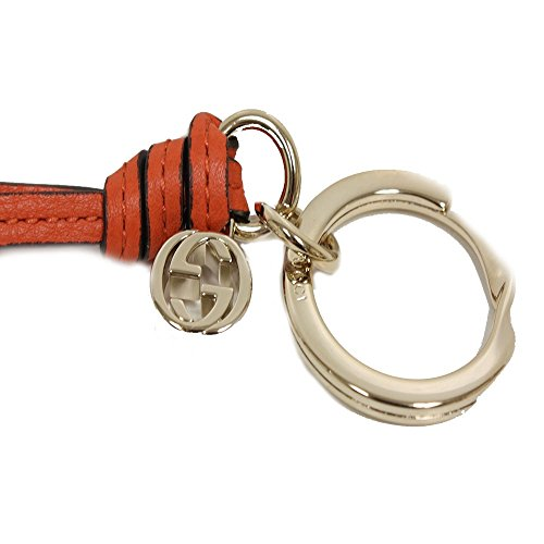 Gucci Orange Leather Charm Key Ring 324403 by Gucci (Image #1)