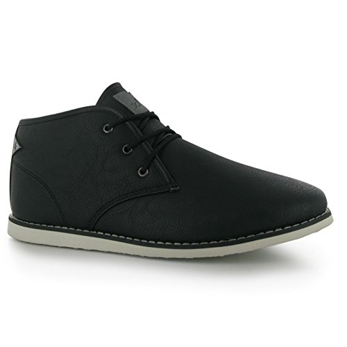 Soviet Mens W Chapel Mid Boots Chukka Padded Insole Lace Up Casual Footwear Black Jg1mUoW