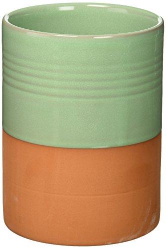 Now Designs Glazed Terracotta Utensil Crock, Sea Mist ()