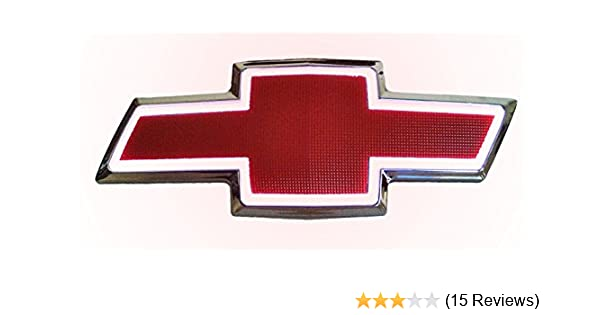 FRONT Grille Grill Red /& White LED Light Up Emblem Bowtie for 07-13 Chevrolet GM
