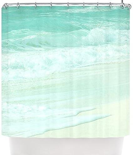 Kess InHouse Monika Strigel QuotParadise Beach Mintquot Teal Green Shower Curtain