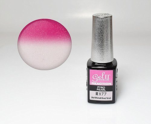 GEL II Reaction Color Changing Nail Mood Polish 0.47 oz - Pyro Pearl R177 - Mood Pearl