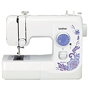 Brother XM1010 with 10 stitches, 4-Step Auto-Size Buttonholer, 4 Sewing', instructional DVD