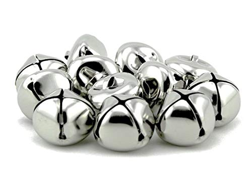 - Pack of 50 pcs 1 Inch Christmas Jingle Bells for Holiday Decoration and DIY Craft Bells (Silver)