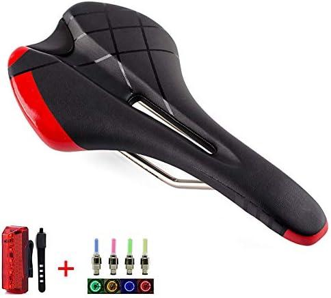 中空自転車サドル、人間工学に基づいたデザインの通気性MTBロードバイクシート、マウンテンバイク用ショックレーシングダウンヒルバイクサドル、エクササイズバイク、折りたたみ自転車、シティバイク、ツーリング