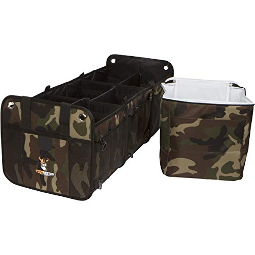 - Tuff Viking 3-in-1 Convertible Car Trunk Organizer 3 Compartments for SUV, Truck, Auto, Minivan, Jeep, Groceries and Home with Tie Down Straps, and Insulated Bag (3-in-1,Camouflage)