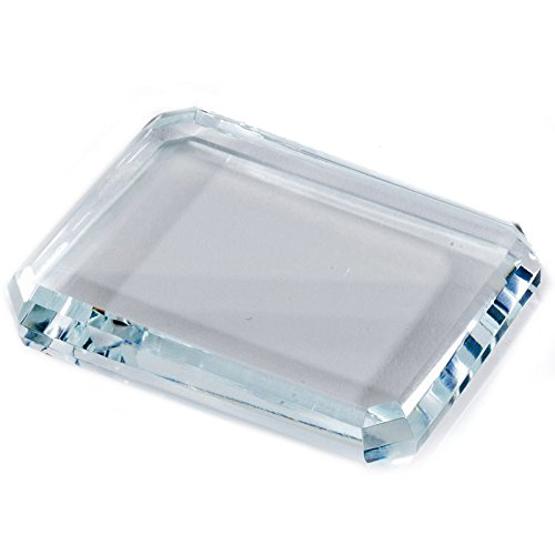 Awards and Gifts R Us Customizable Optical Crystal Paperweight, Includes Personalization