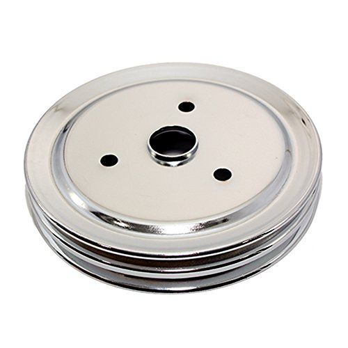Assault Racing Products A9603 Small Block Chevy Chrome 2 Groove Crankshaft Pulley 7.3