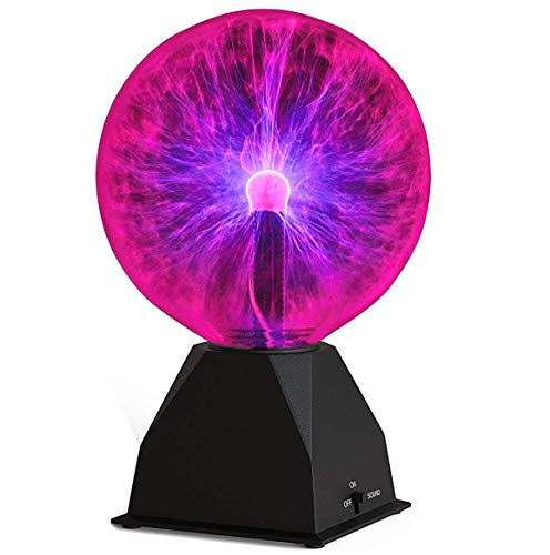 - Katzco Plasma Ball -7.5 Inch - Nebula, Thunder Lightning, Plug-in - for Parties, Decorations, Prop, Kids, Bedroom, Home, and Gifts