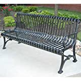 6' Blair Bench, Steel, Black