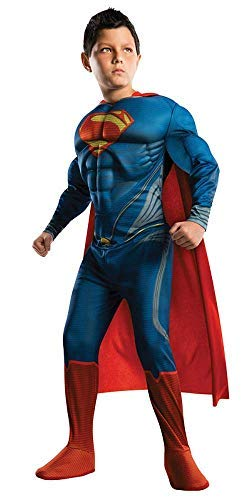 Superman Child's Costume Muscle Edition, Medium Blue]()