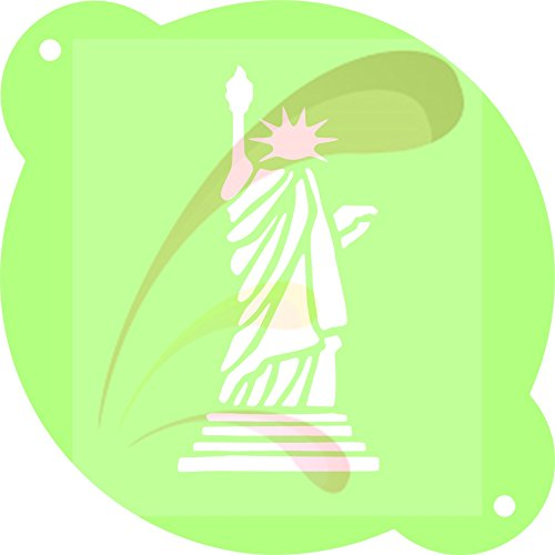 Statue of Liberty, 4th, independence, Cookie stencil, Cake Stencil, Coffee Stencil, Candy Stencil, Cupcake stencil for Royal Icing, powders, sugars, edible glitters and Airbrushing ()