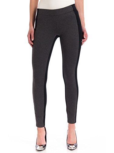 Miraclebody Women's Olivia Pull-On Colorblock Leggings, Heather Grey, 10